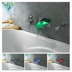 LED Waterfall Tub Tap with...