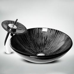 Black+White Round Tempered...