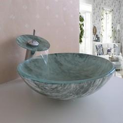 Bathroom Sink Set,Tempered...