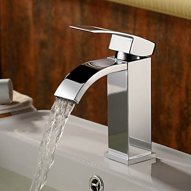Centerset Single Handle One Hole in Chrome Bathroom Sink Tap - Taps Buy